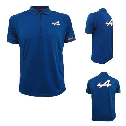 Футболка з коміром (поло) синя M