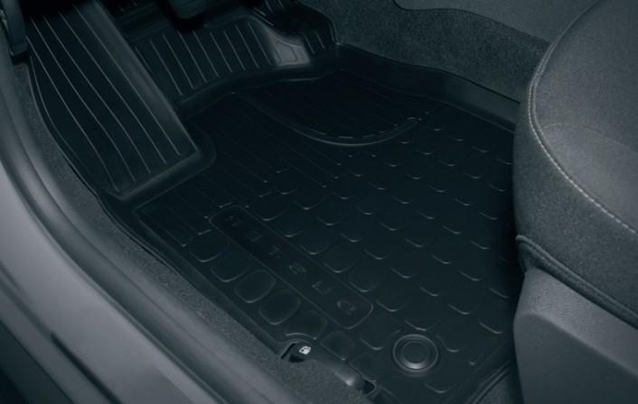 Гумові килимки з піднятими краями - З відділенням під переднім сидінням