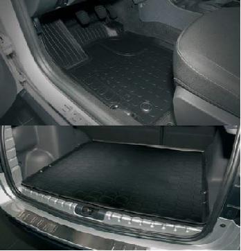 Промо комплект гумових килимків - З відділенням під сидінням - Для 4х4