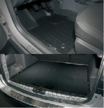 Промо комплект гумових килимків - З відділенням під сидінням - Для 4х2