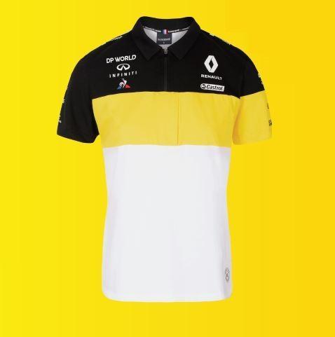 Чоловіча біла бавовняна сорочка поло F1 M