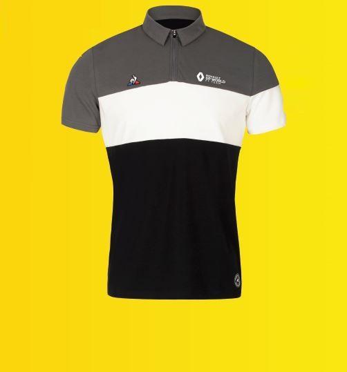 Чоловіча сіра технічна сорочка поло F1 XXXL
