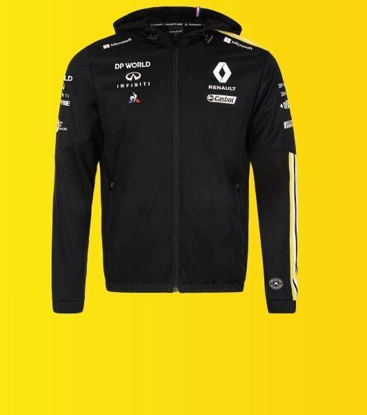 Чорна дощова куртка F1 S