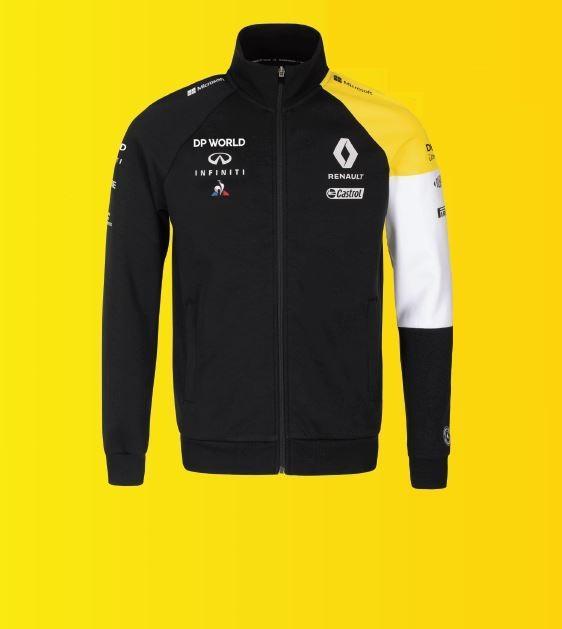 Чоловіча чорна флісова куртка на блискавці F1 S