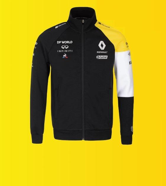 Чоловіча чорна флісова куртка на блискавці F1 XXL