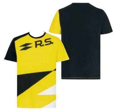 R.S. чоловіча футболка жовта- чорна L