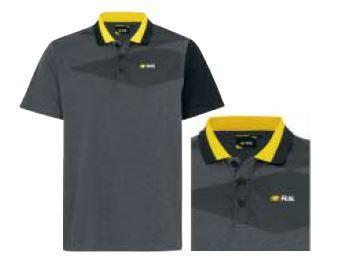 R.S. чоловіча сорочка-поло Темно-строкатий сірий M