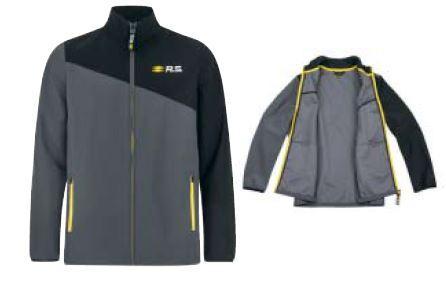 R.S. чоловіча софтшелл куртка сірий та чорний XL