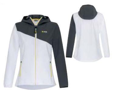 R.S. жіноча софтшелл куртка біло-сіра L