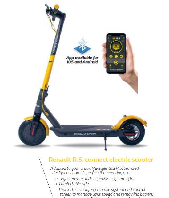 R.S. скутер Чорно-жовтий з блютуз підключенням